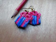 plastic clay earrings