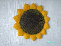 Papier Mache sunflower