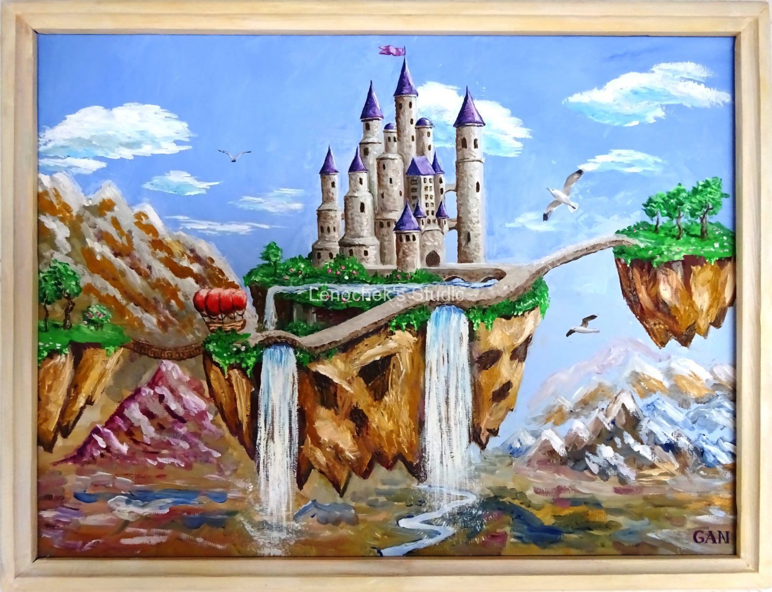 A hovering castle, 30*40, oil, canvas board