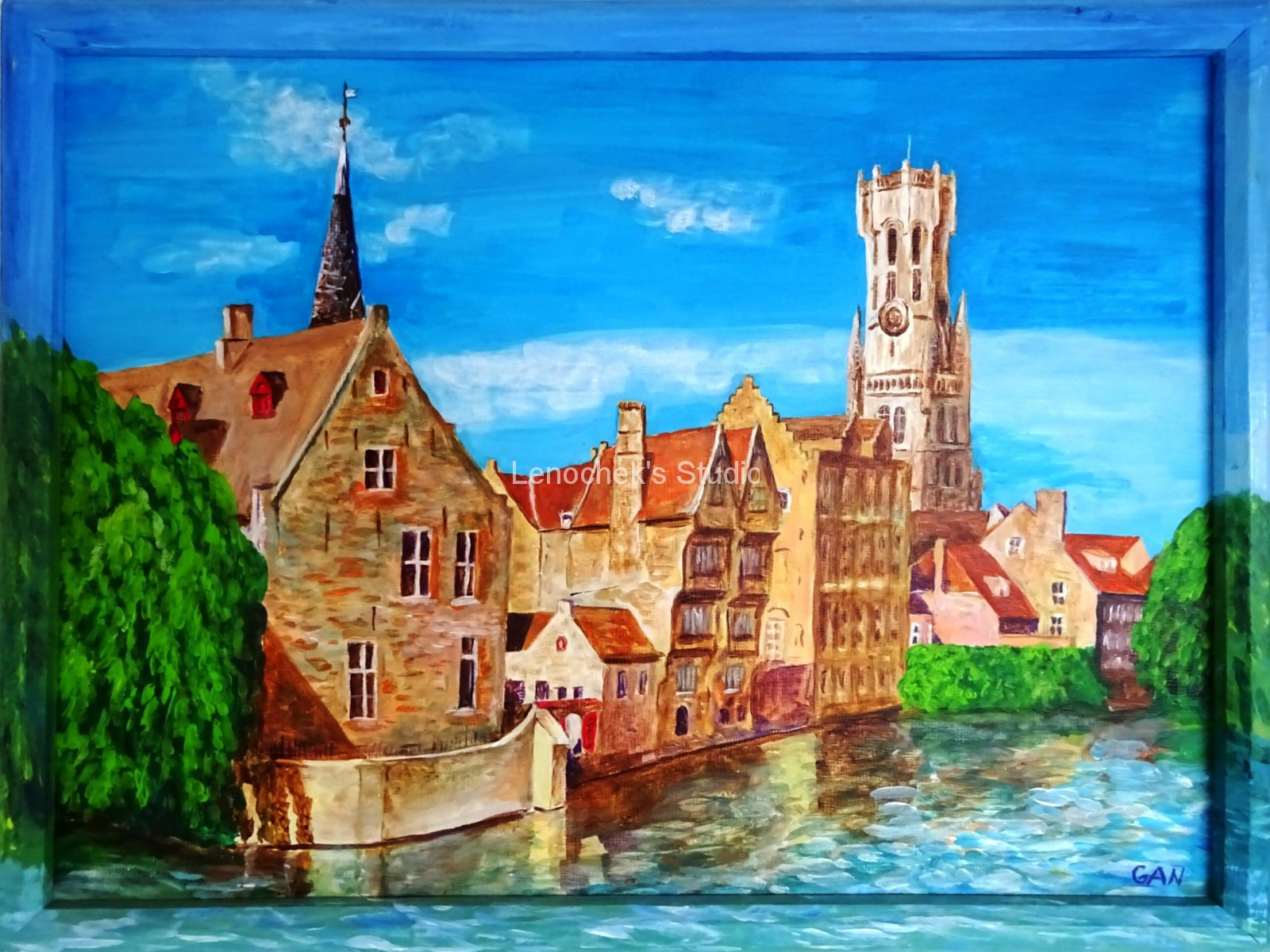 Rozenhoedkaai (Rosery Quay, Bruges), 40*30, acrylic, canvas board
